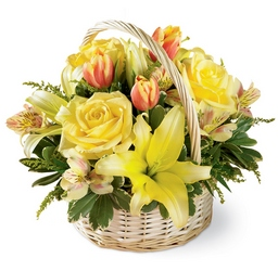 Garden Spring Basket from Lloyd's Florist, local florist in Louisville,KY