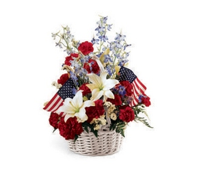 American Glory Basket from Lloyd's Florist, local florist in Louisville,KY