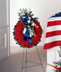 All-American Tribute Wreath from Lloyd's Florist, local florist in Louisville,KY