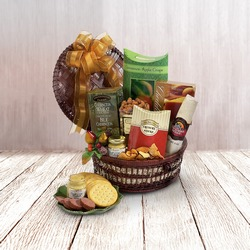 Autumn Cheese and Salami Gift Basket from Lloyd's Florist, local florist in Louisville,KY